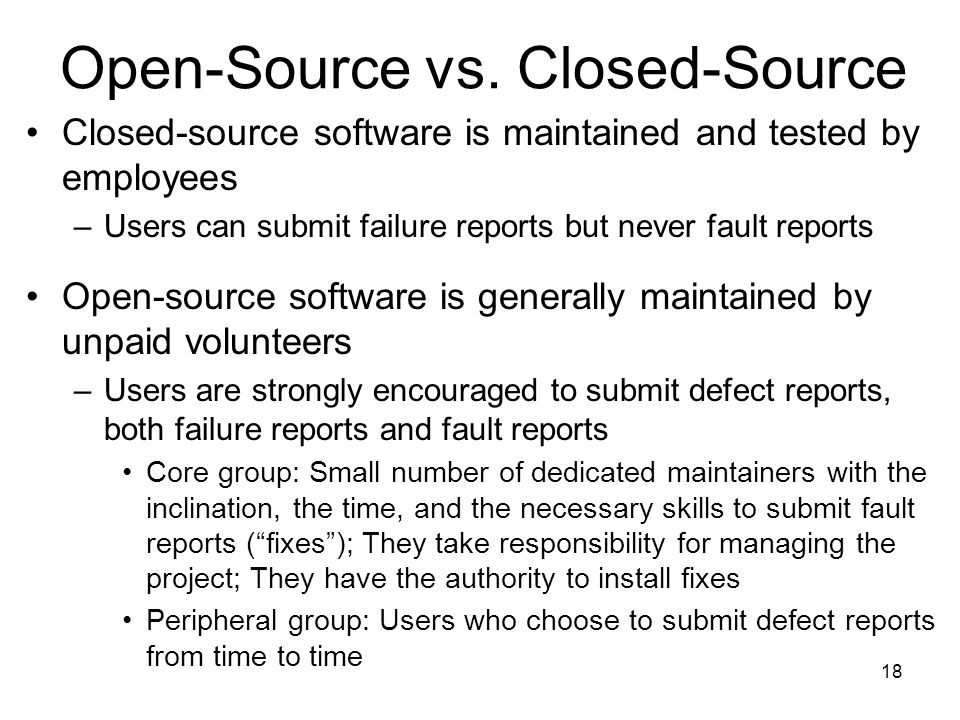 Open-Source vs. Closed-Source
