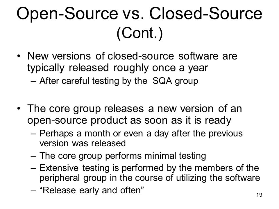 Open-Source vs. Closed-Source (Cont.)