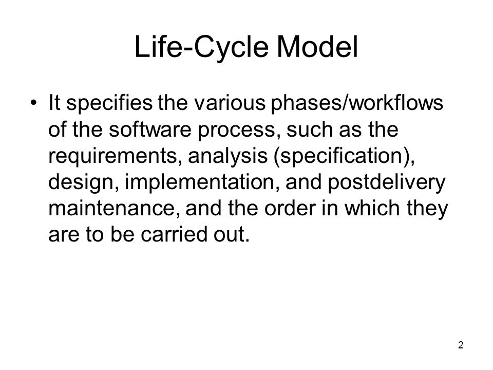 Life-Cycle Model