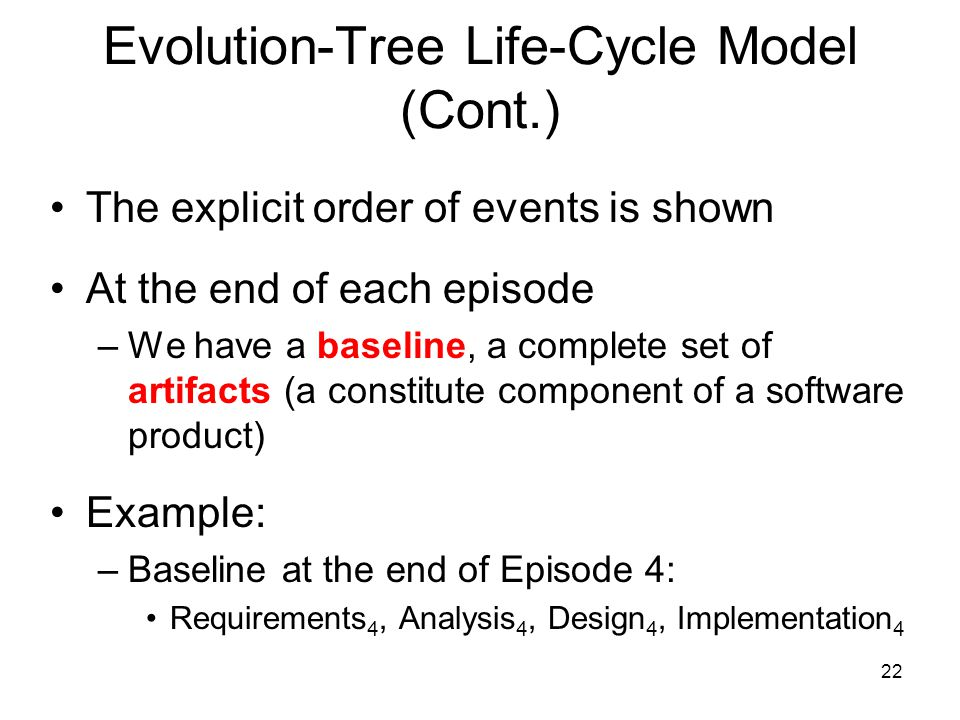 Evolution-Tree Life-Cycle Model (Cont.)