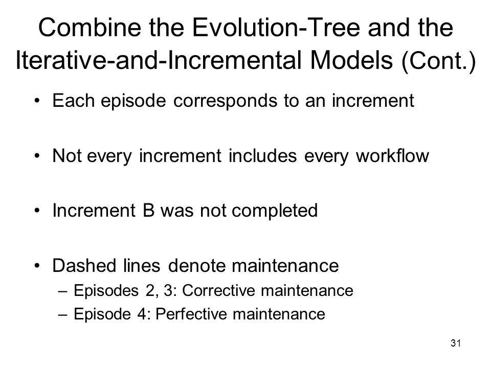 Combine the Evolution-Tree and the Iterative-and-Incremental Models (Cont.)