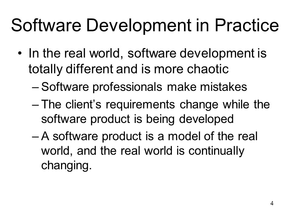 Software Development in Practice