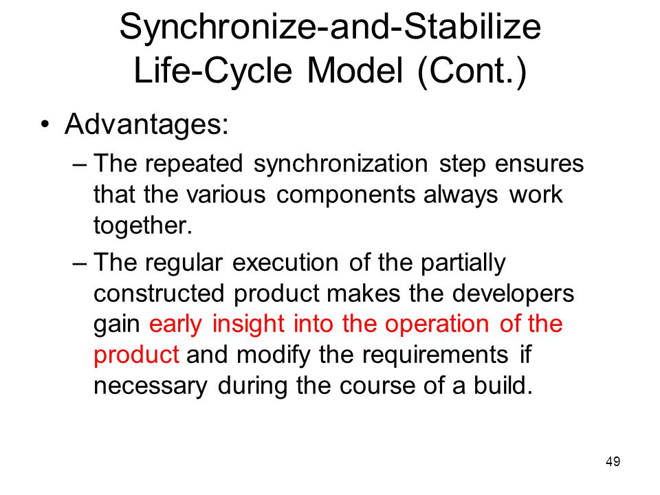 Synchronize-and-Stabilize Life-Cycle Model (Cont.)