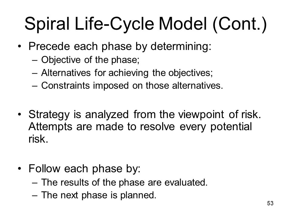 Spiral Life-Cycle Model (Cont.)