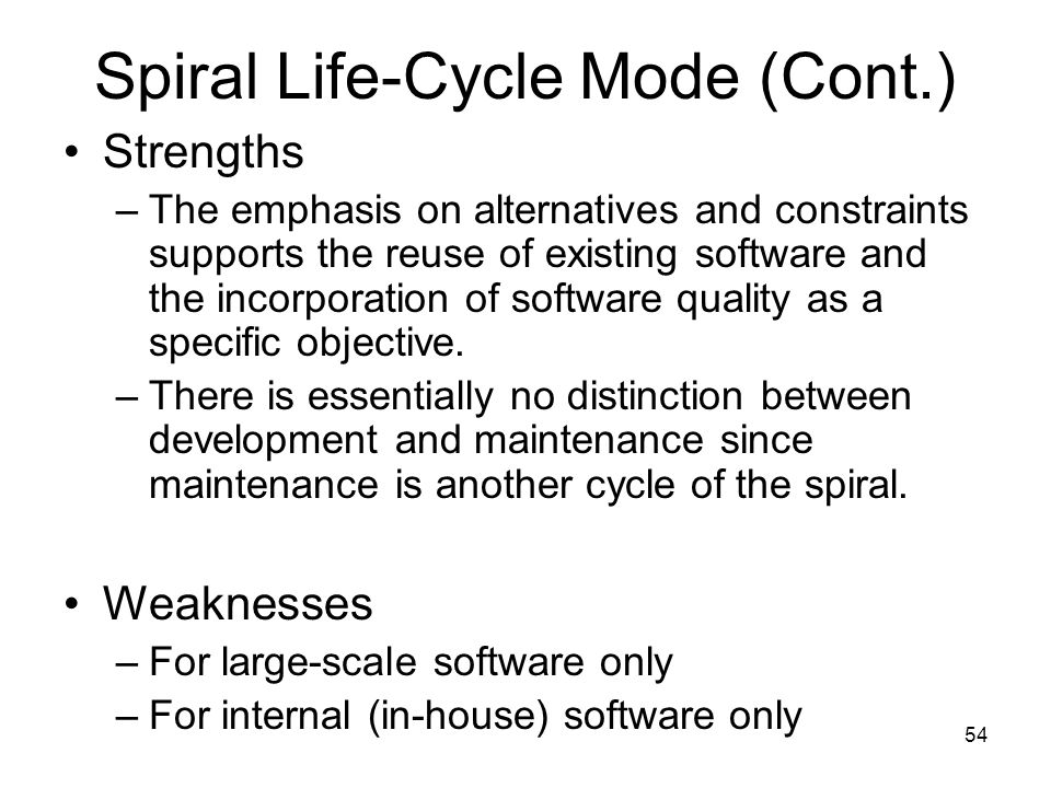 Spiral Life-Cycle Mode (Cont.)