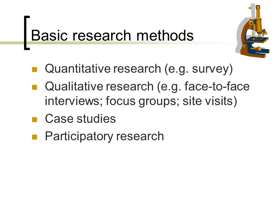 Basic research methods