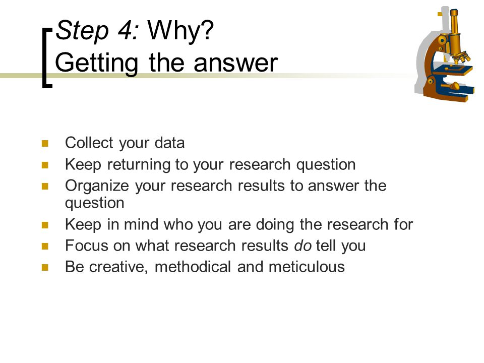 Step 4: Why Getting the answer