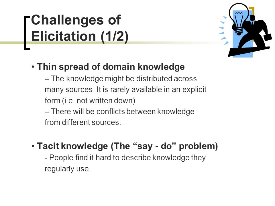 Challenges of Elicitation (1/2)