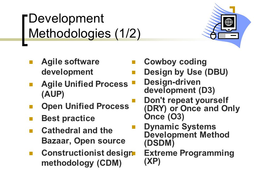 Development Methodologies (1/2)