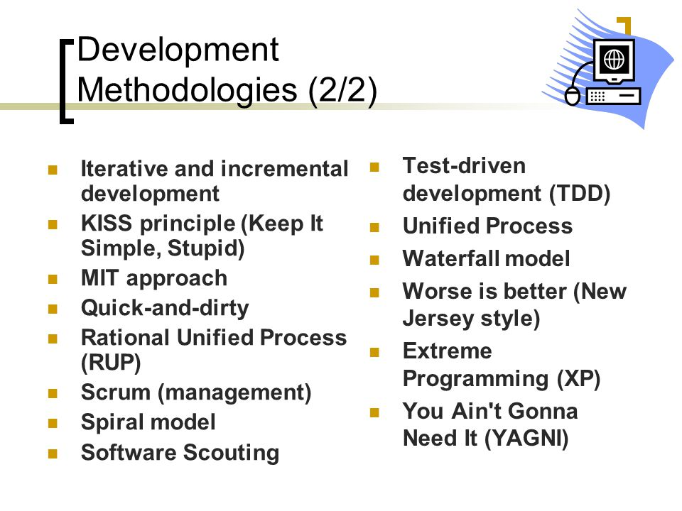 Development Methodologies (2/2)