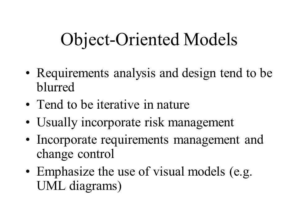 Object-Oriented Models