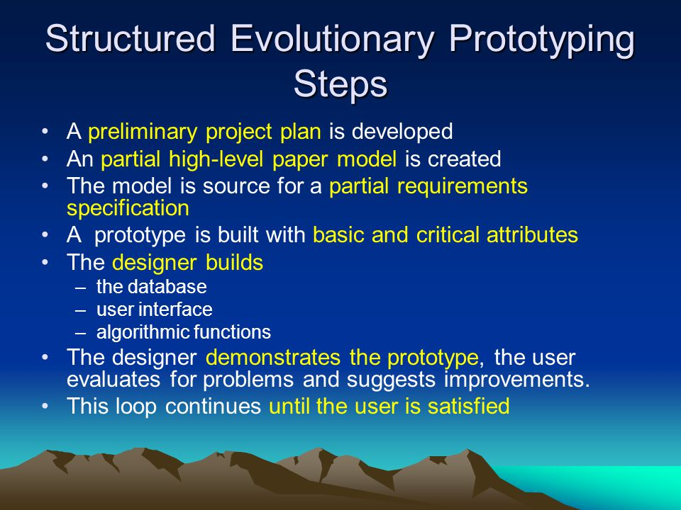 Structured Evolutionary Prototyping Steps