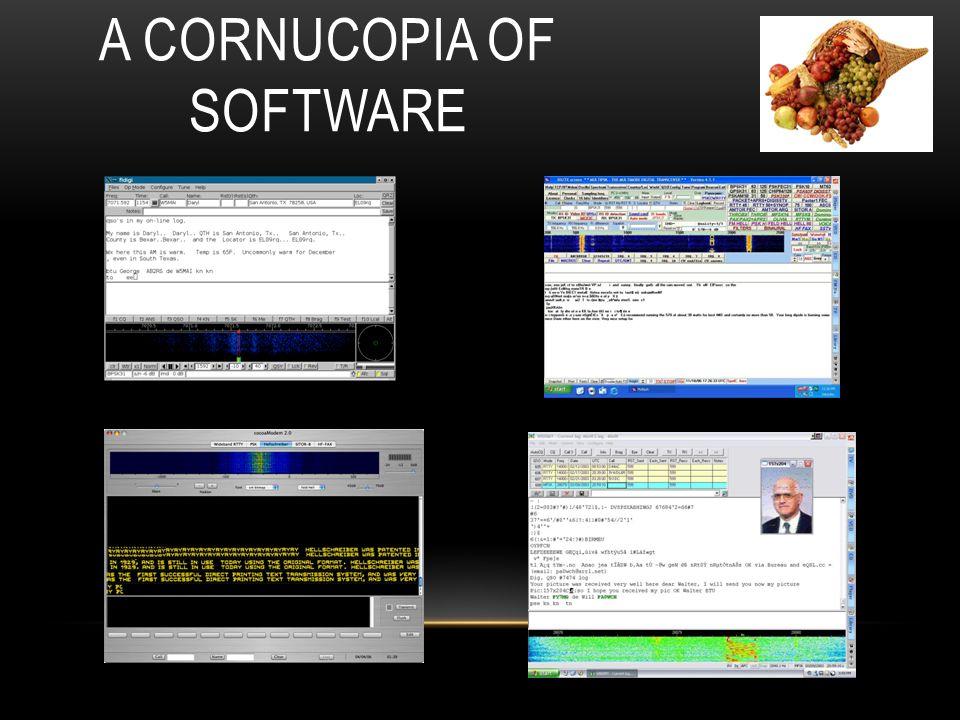 A Cornucopia of Software