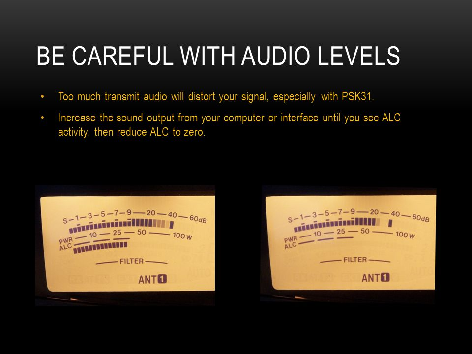 Be Careful with Audio Levels
