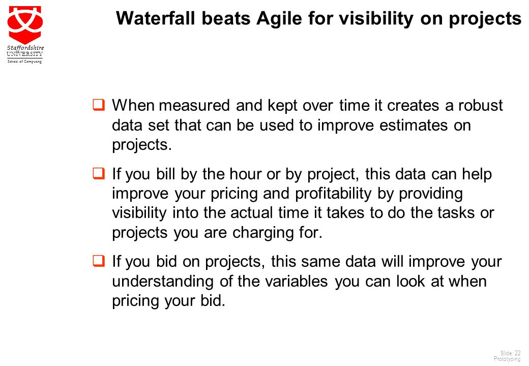 Waterfall beats Agile for visibility on projects