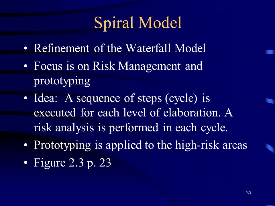 Spiral Model Refinement of the Waterfall Model