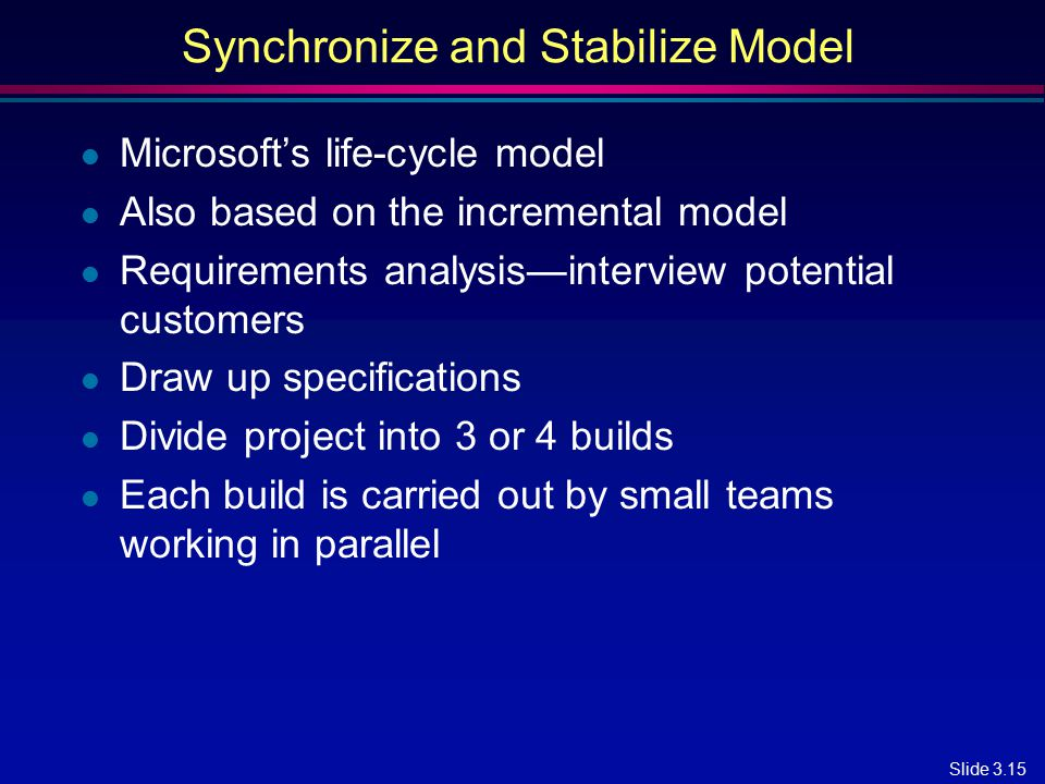 Synchronize and Stabilize Model