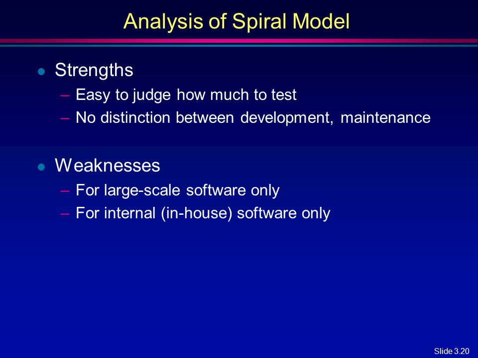 Analysis of Spiral Model