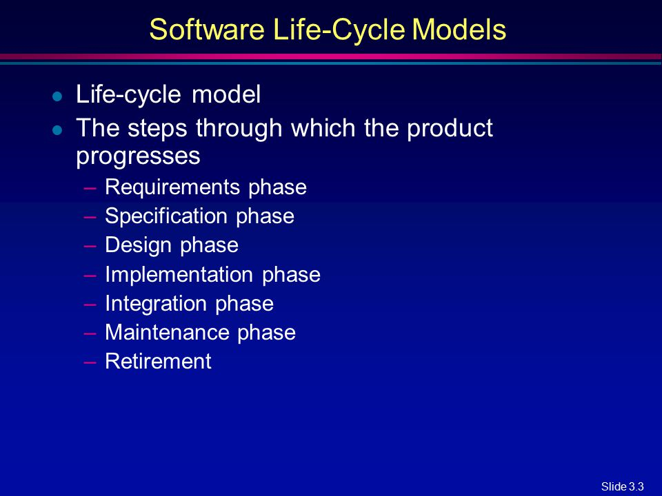 Software Life-Cycle Models