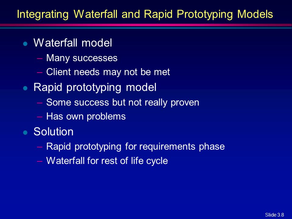 Integrating Waterfall and Rapid Prototyping Models