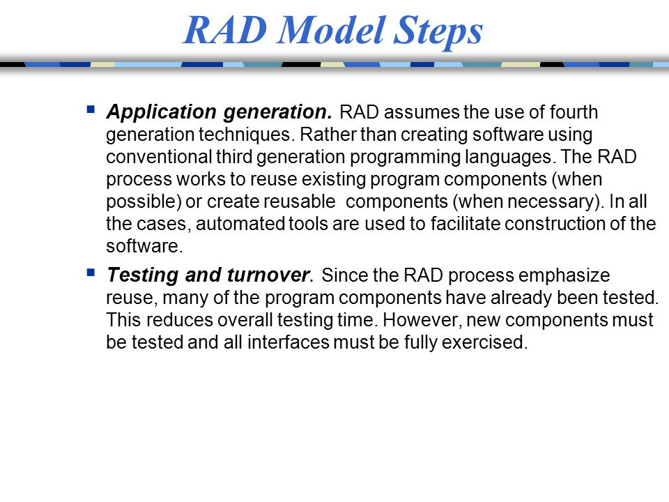 RAD Model Steps