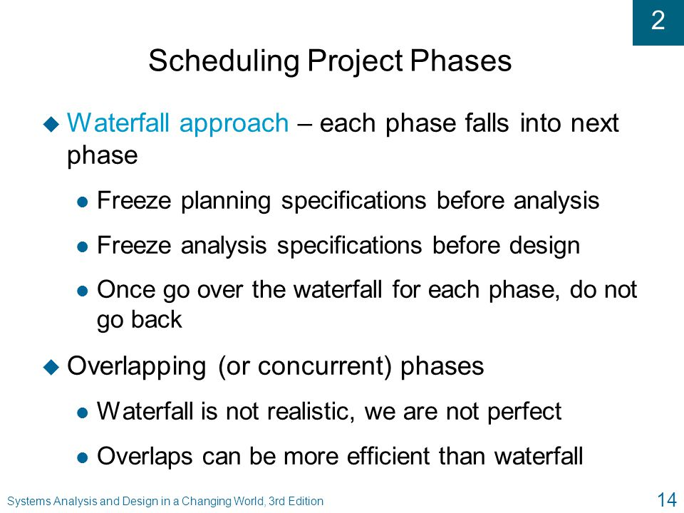 Scheduling Project Phases