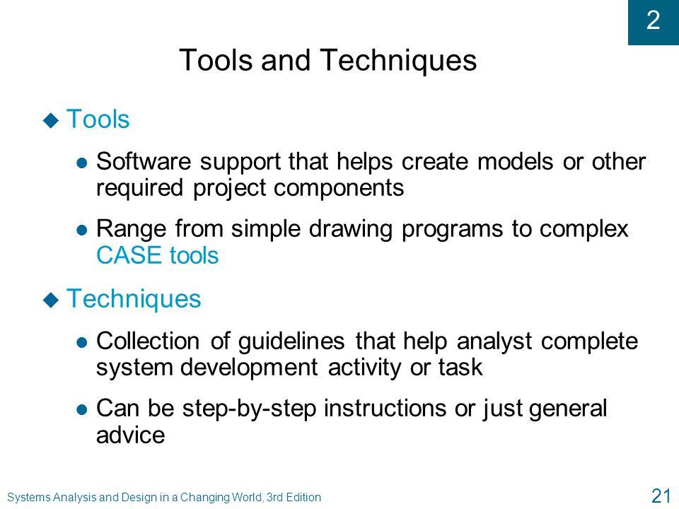 Tools and Techniques Tools Techniques
