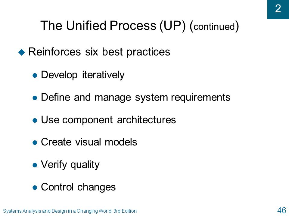 The Unified Process (UP) (continued)