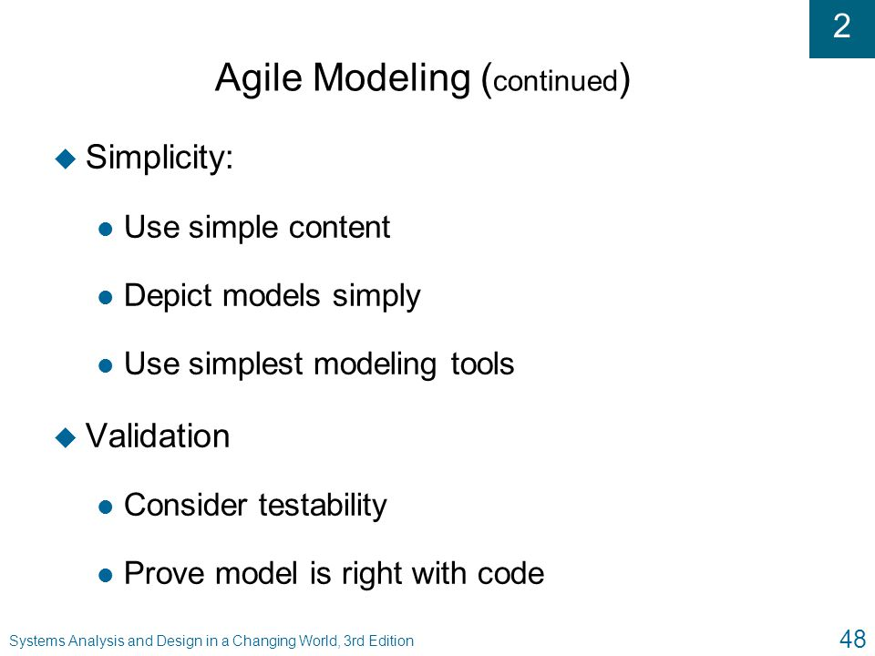 Agile Modeling (continued)