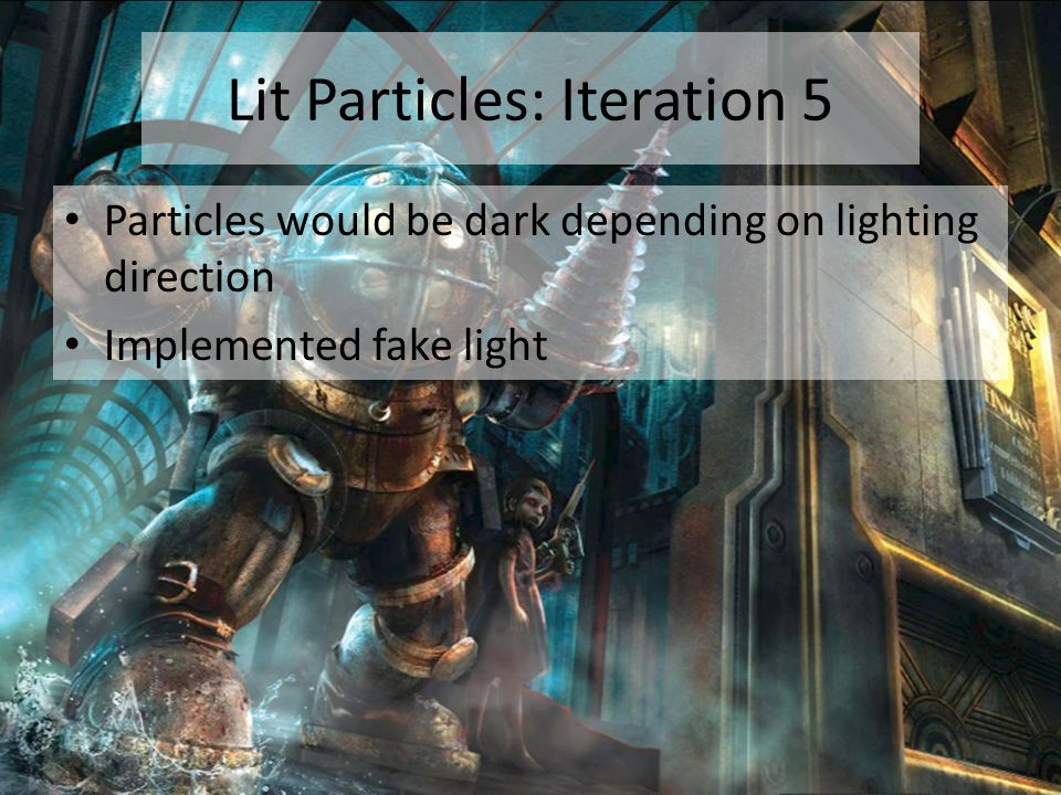 Lit Particles: Iteration 5