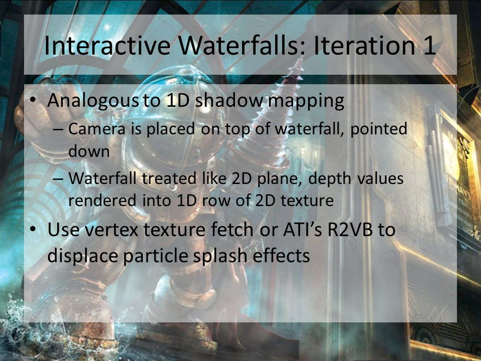 Interactive Waterfalls: Iteration 1