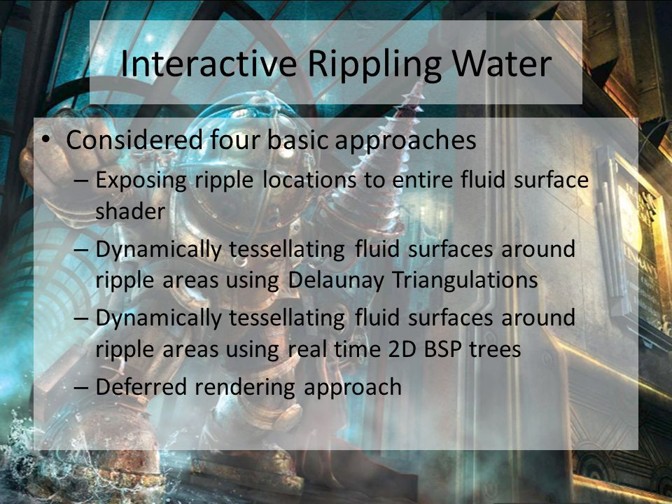 Interactive Rippling Water