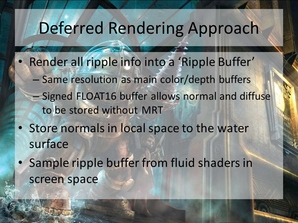 Deferred Rendering Approach
