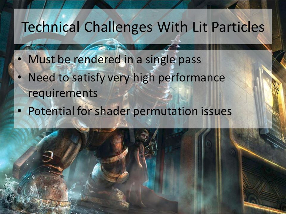 Technical Challenges With Lit Particles