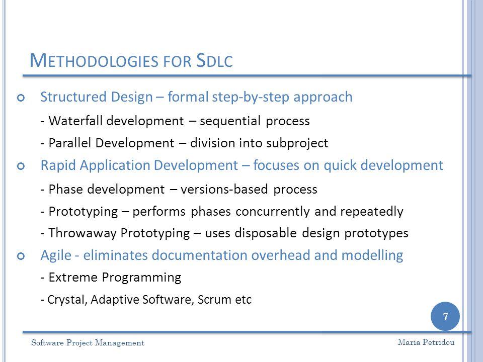 Methodologies for Sdlc