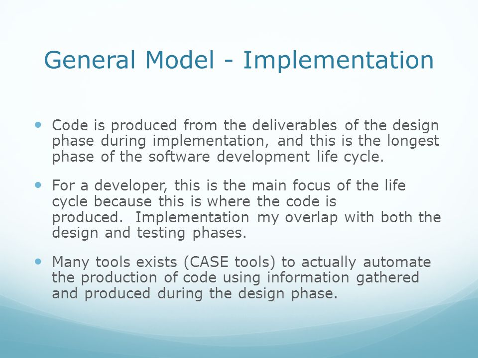 General Model - Implementation