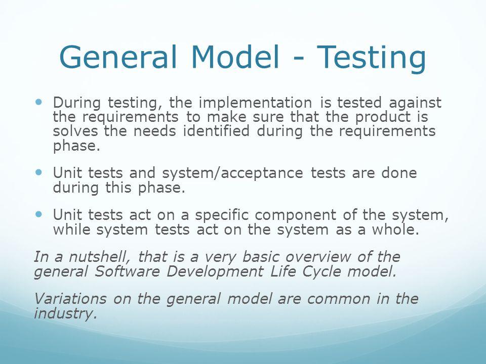 General Model - Testing