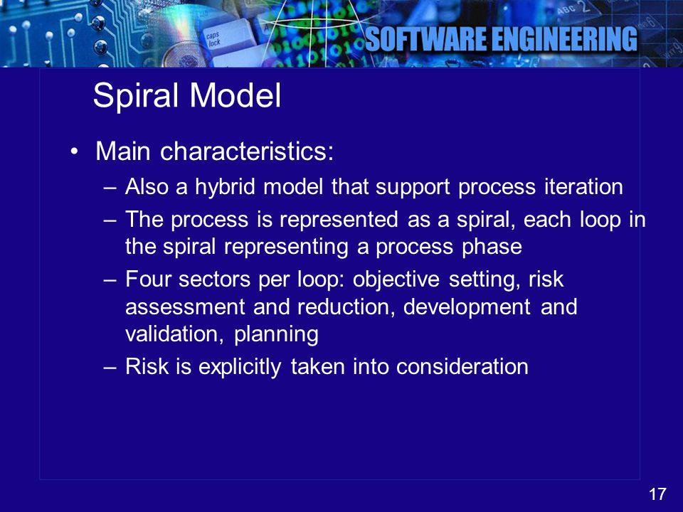 Spiral Model Main characteristics: