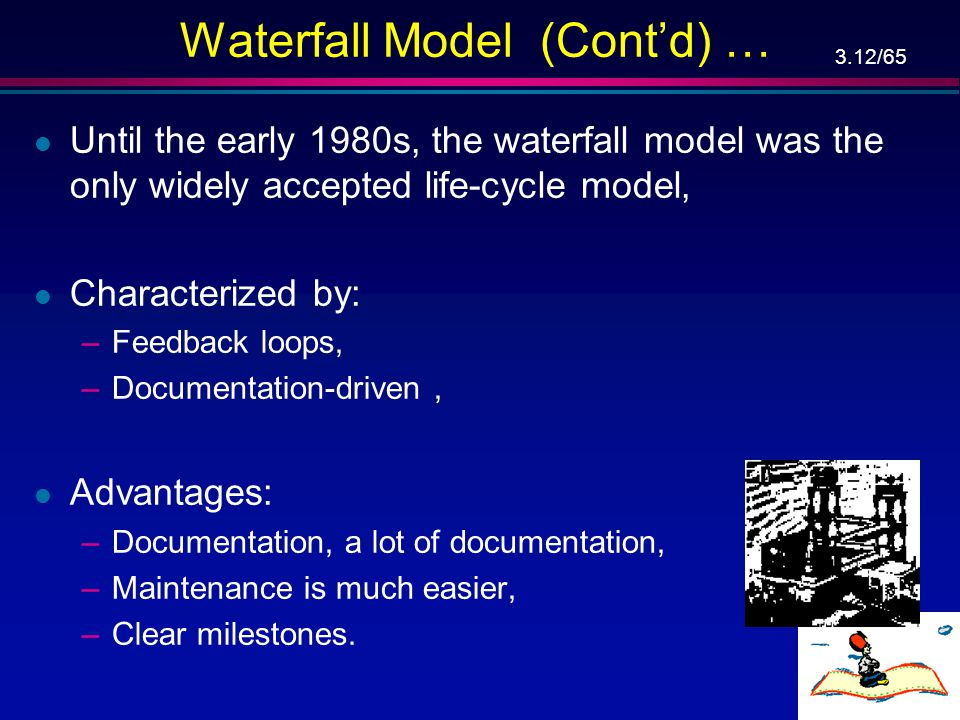 Waterfall Model (Cont'd) …