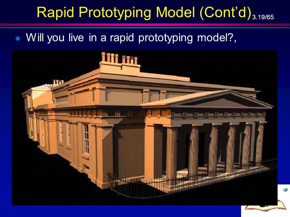 Rapid Prototyping Model (Cont'd)