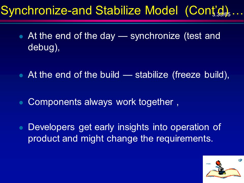 Synchronize-and Stabilize Model (Cont'd) …