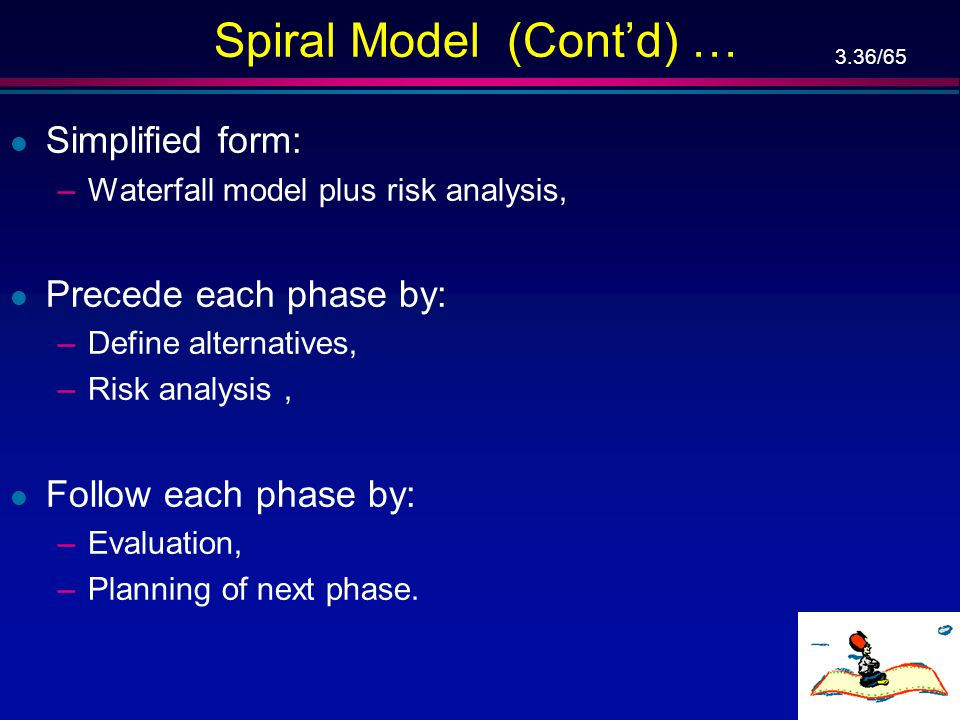 Spiral Model (Cont'd) …