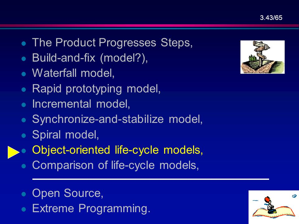 The Product Progresses Steps,