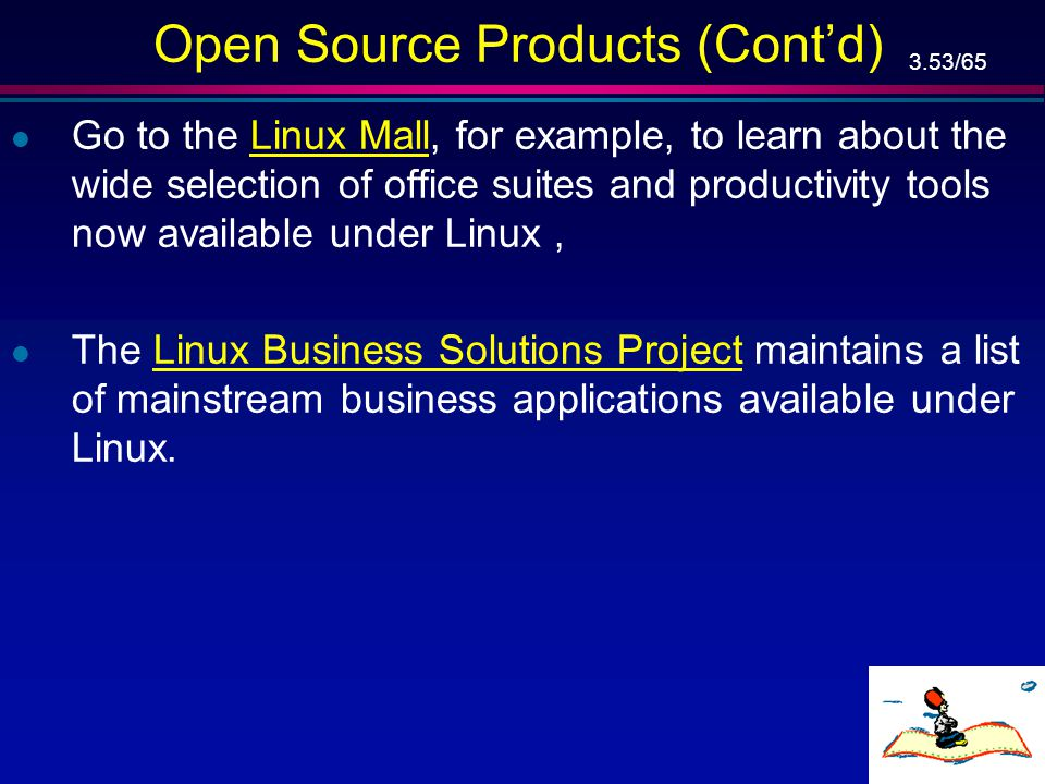 Open Source Products (Cont'd)