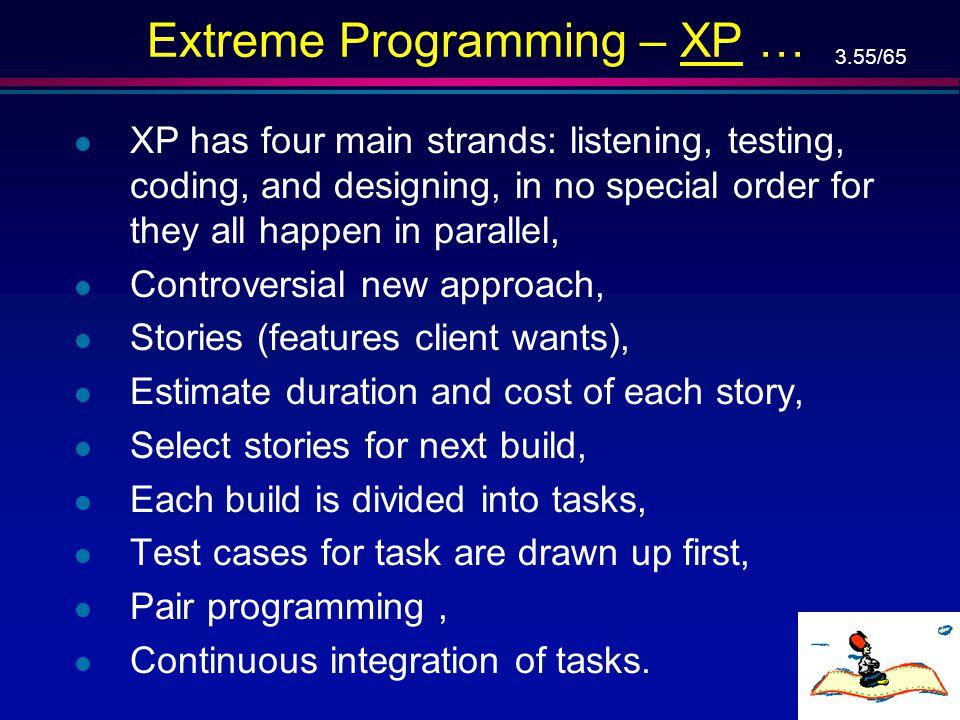 Extreme Programming – XP …