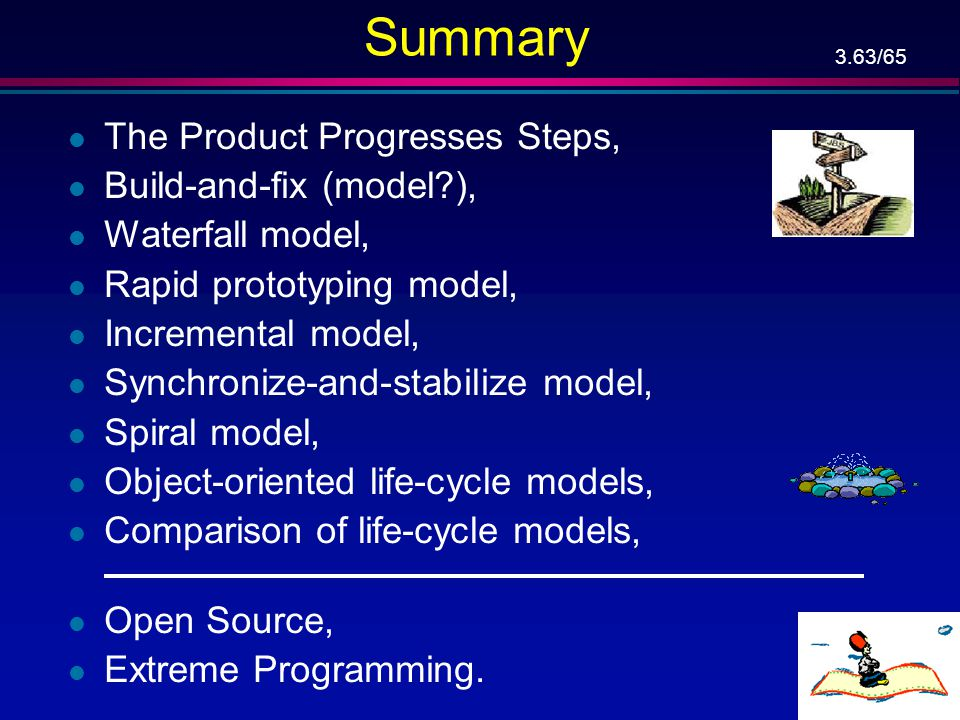 Summary The Product Progresses Steps, Build-and-fix (model ),