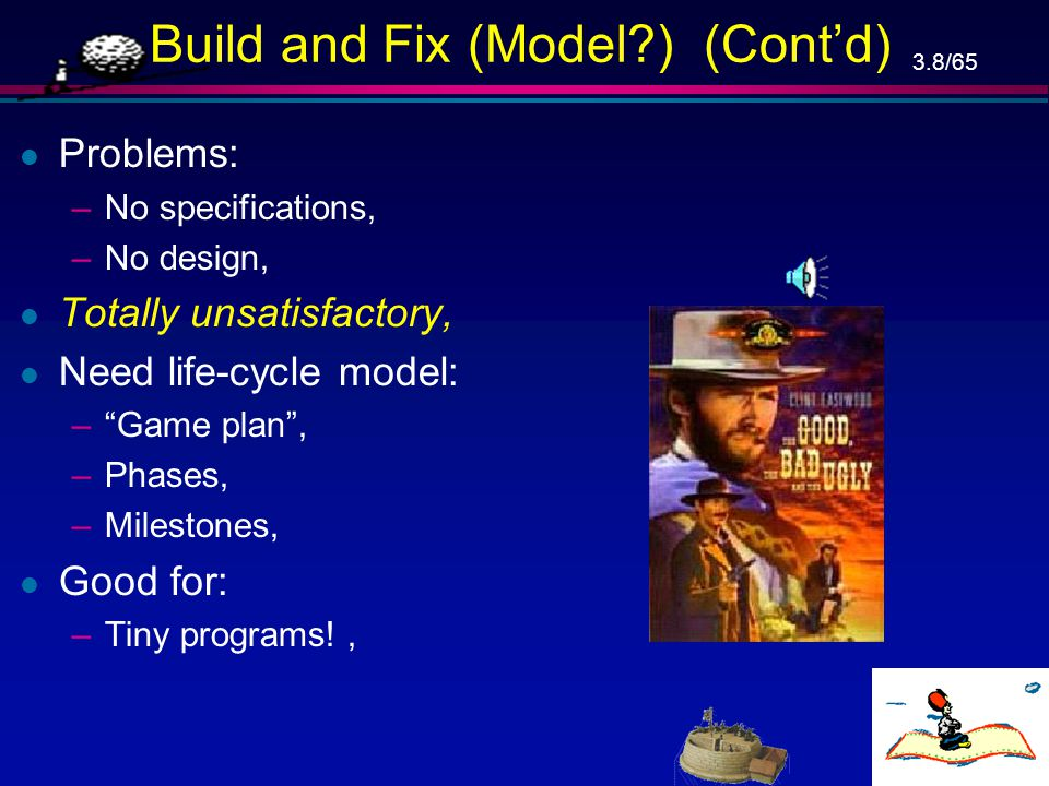Build and Fix (Model ) (Cont'd)
