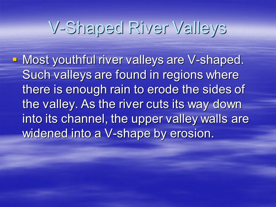 V-Shaped River Valleys