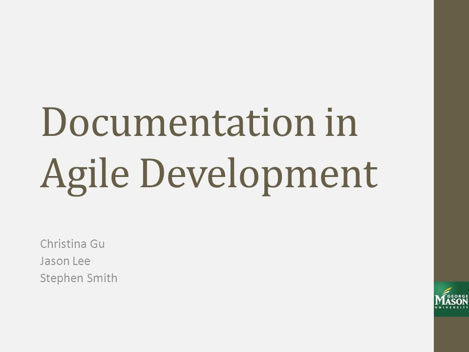 Documentation in Agile Development