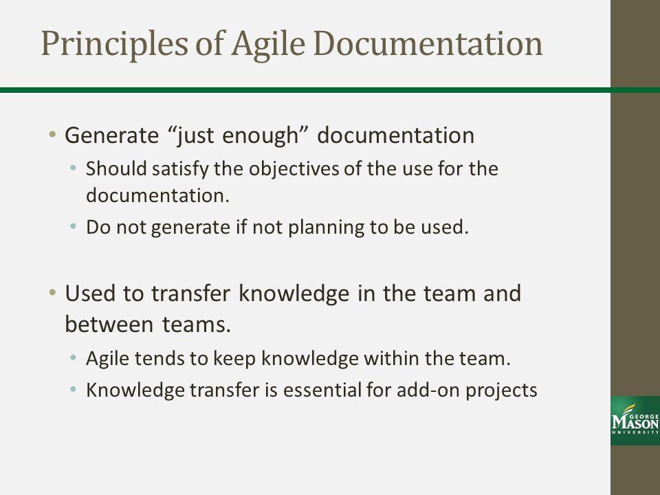 Principles of Agile Documentation